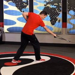 Lunge Stance One Arm Incline Row