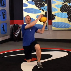 Half Kneeling Med-Ball Lifts