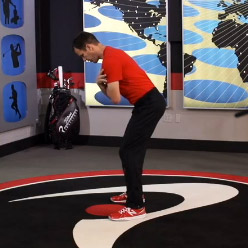Pelvic Tilts in Golf Stance - Find Neutral